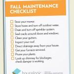 fall maintenance home checklist