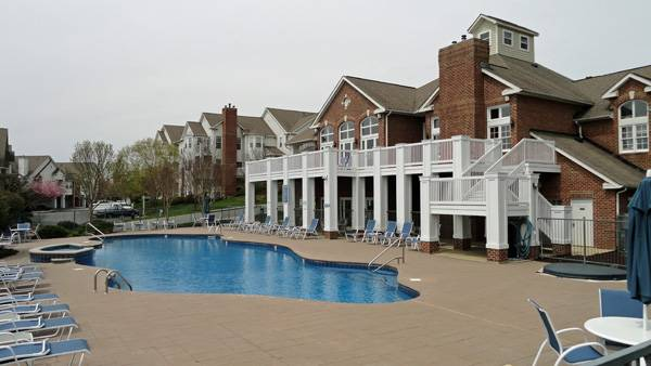 Pool Area of Claremont at Carriage Hill
